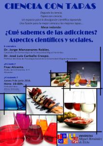 Ciencia con tapas 9-06-16_Que sabemos de las adicciones